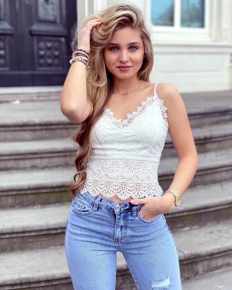 Laila Crop Top - White