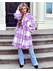 Charlotte Checkered Coat - Lilac