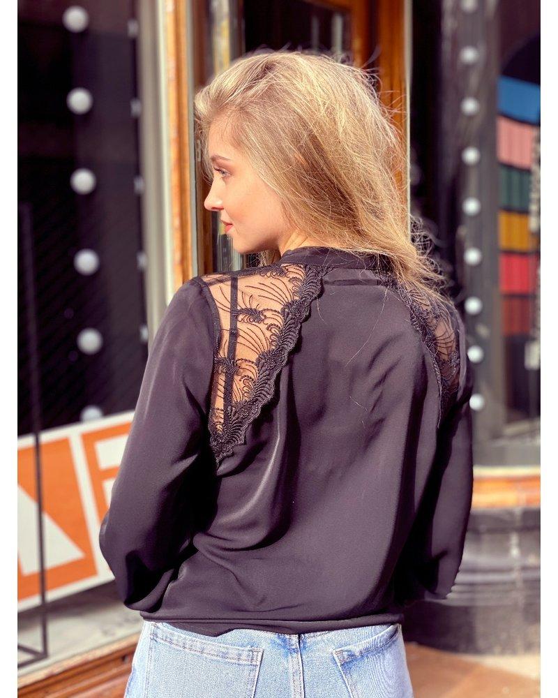 Livia Lace Blouse - Black