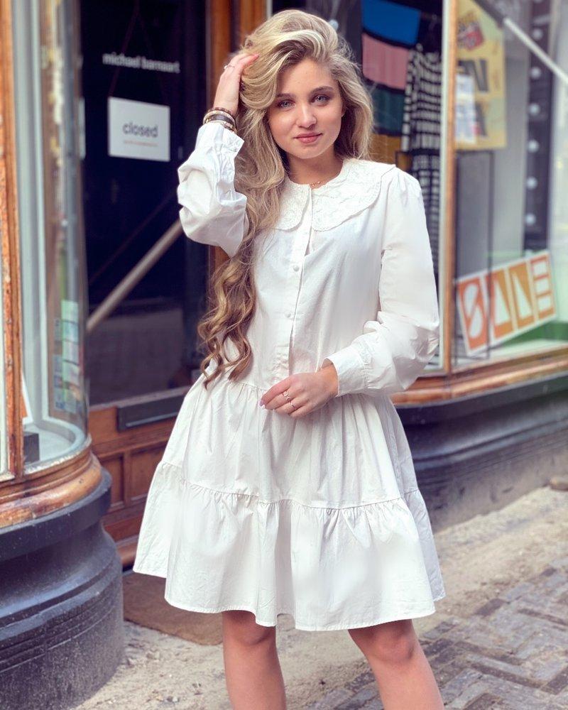 Emmi Blouse Dress - White