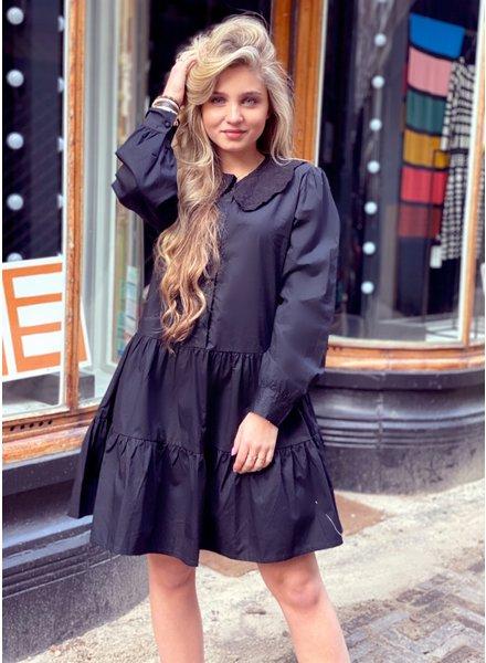 Emmi Blouse Dress - Black