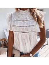 Bohemian Top - White