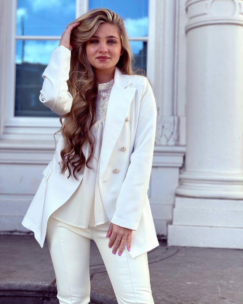 Sasha Blazer - White