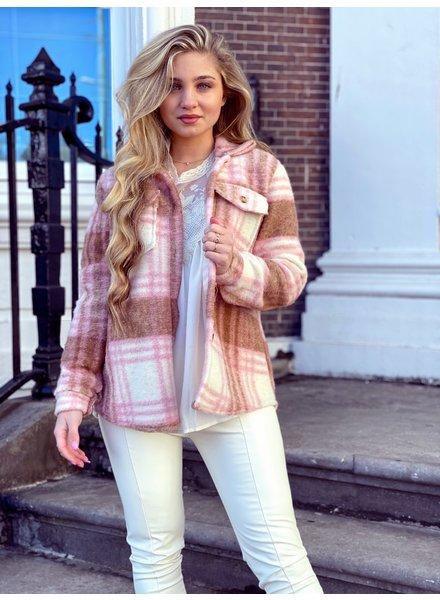 Lexi Coat - Pink Camel