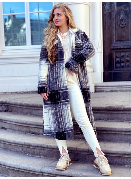 Julia Coat - Black / White