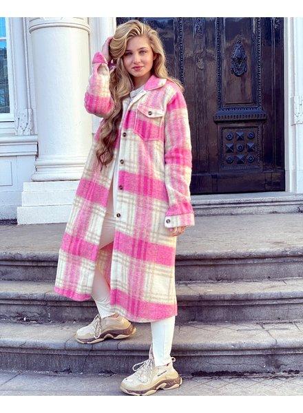 Julia Coat - Pink / Sand
