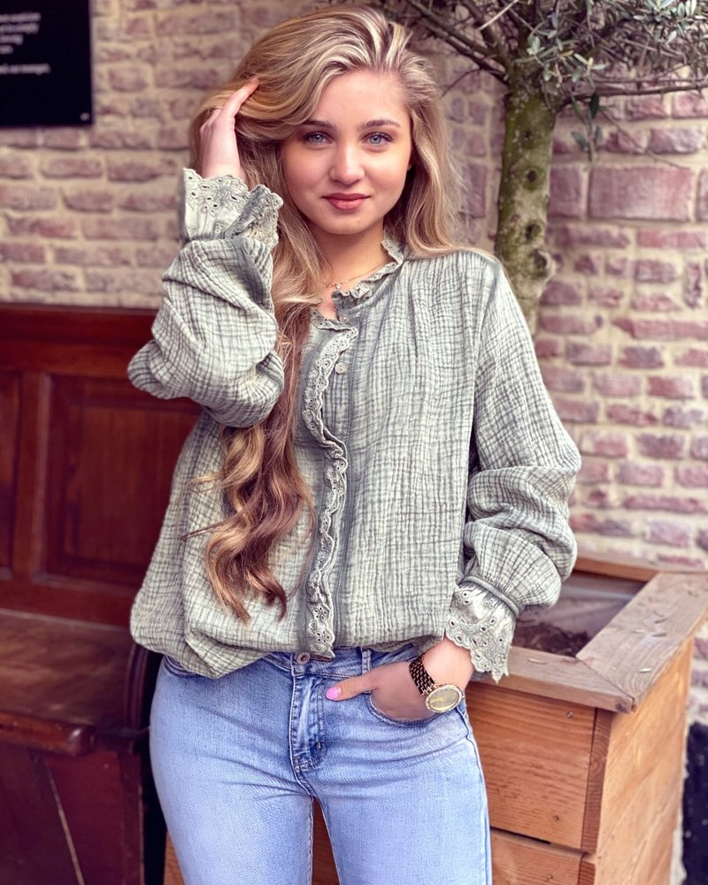 Harley Blouse - Army Green