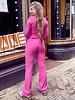 Mandy Cropped Set - Fuchsia
