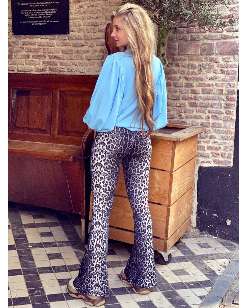 Felicia Flare - Leopard Grey