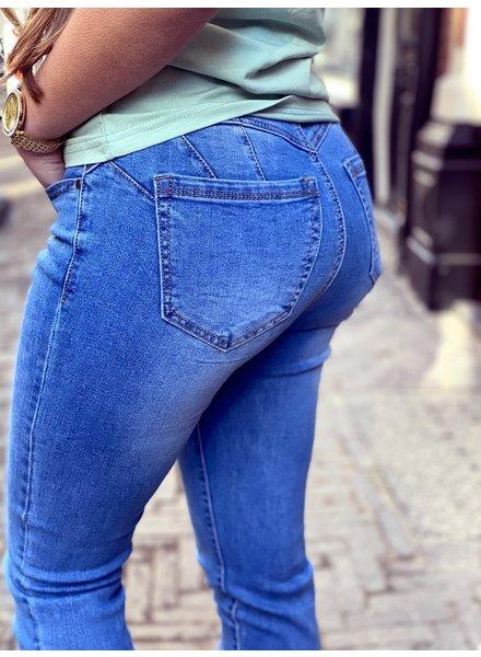 Curvy Push Up Jeans - Denim