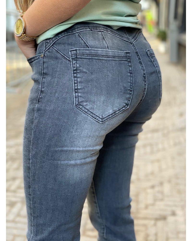 Curvy Push Up Jeans - Dark Grey