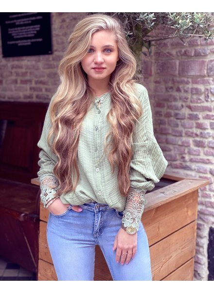 Saige Blouse - Army Green