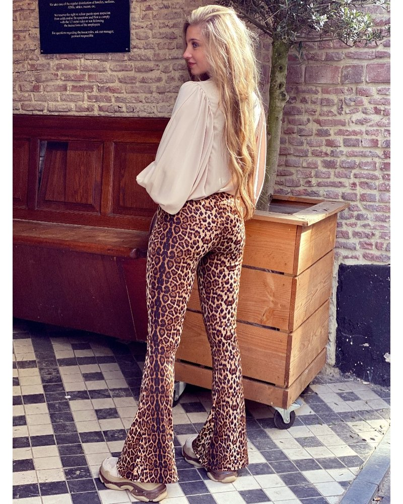Felicia Flare - Leopard Brown