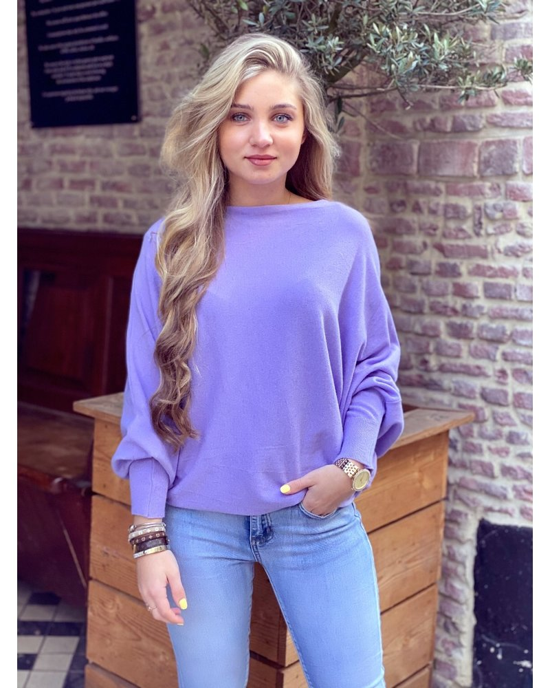 Basic Butterfly Sweater - Lilac