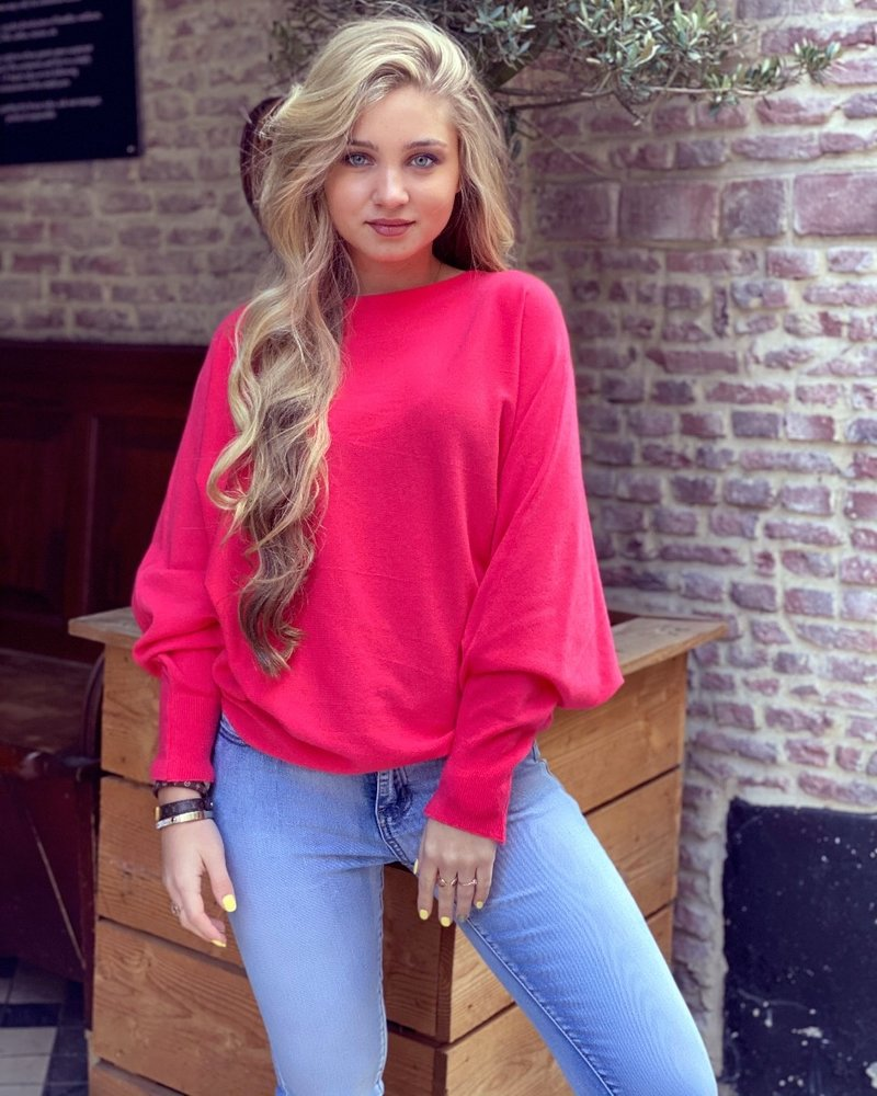 Basic Butterfly Sweater - Coral