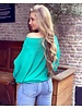 Basic Butterfly Sweater - Turquoise