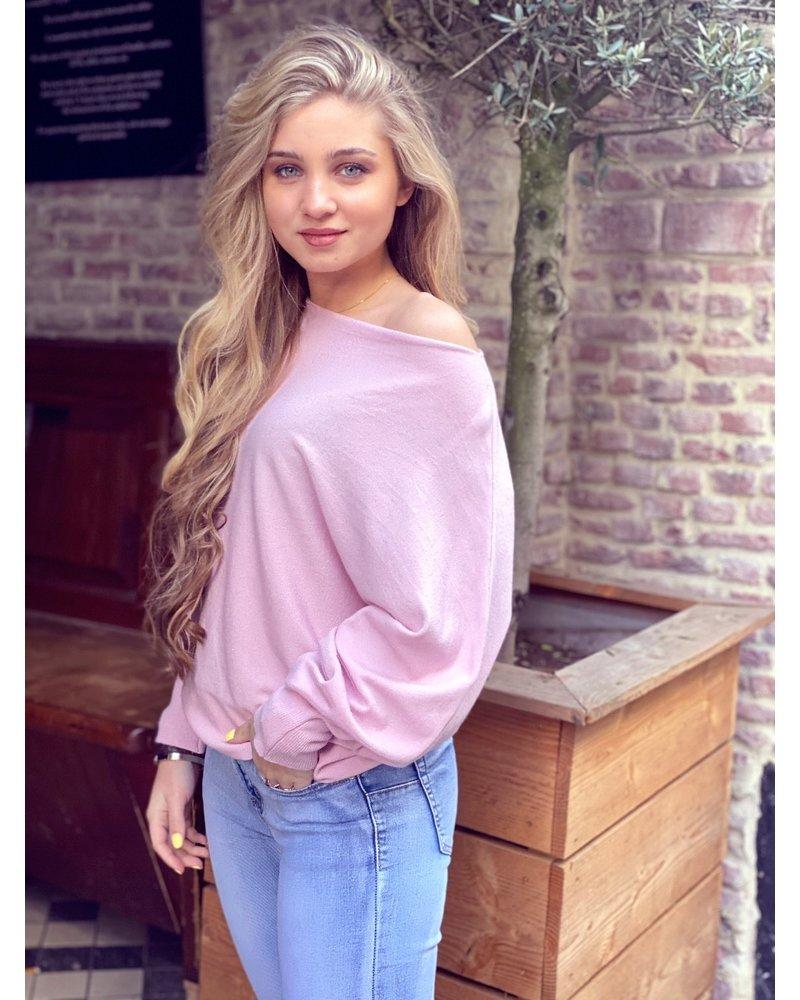 Basic Butterfly Sweater - Light Pink