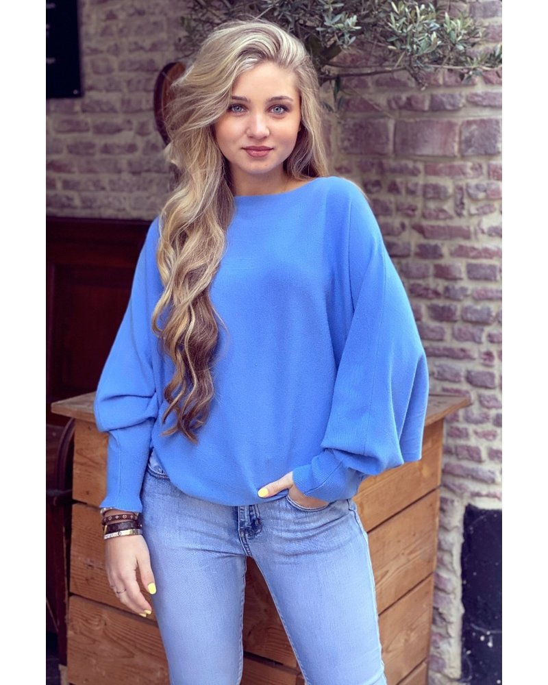 Basic Butterfly Sweater - Blue