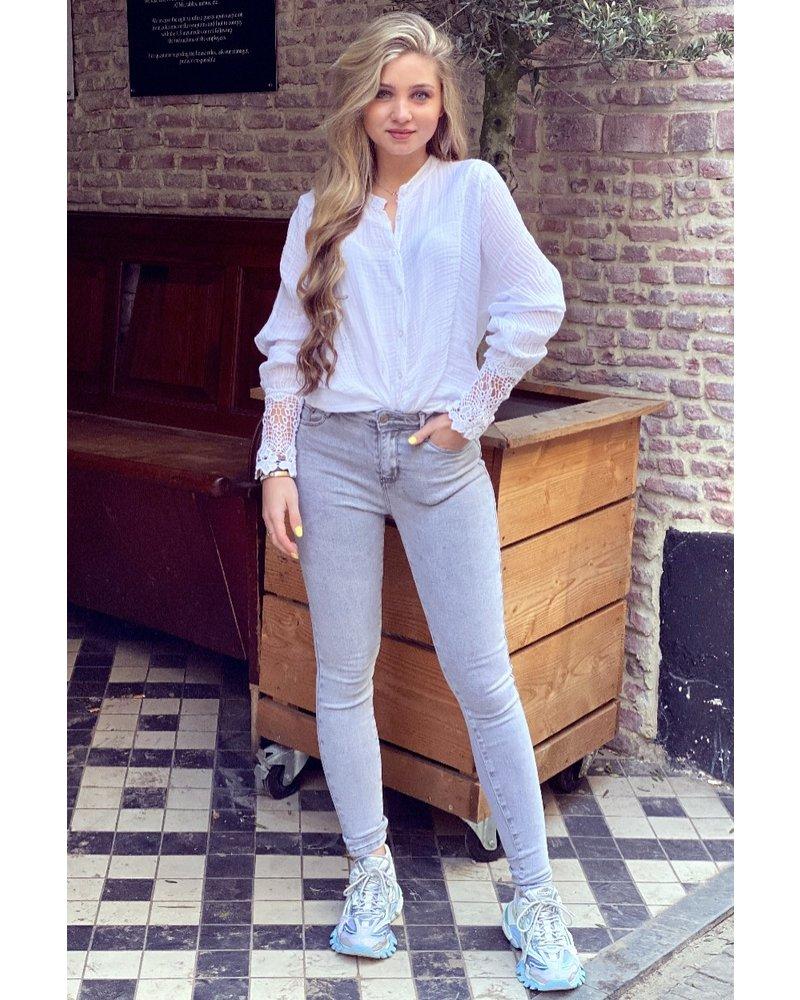 Stella Push Up Jeans -Lightgrey