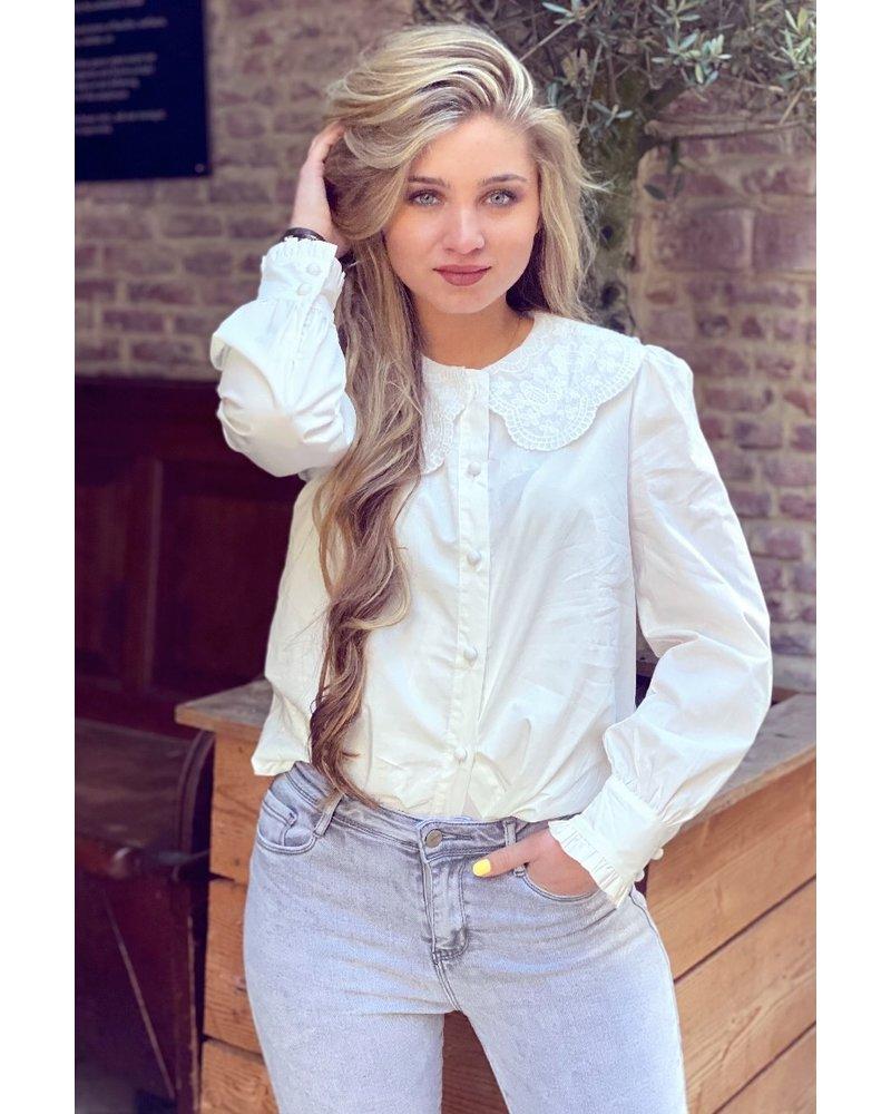 Cute Blouse - White