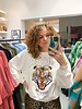 Oversized Tiger Sweater - White