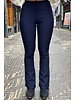 Pretty Striped Flare Pants - Navy