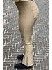Pretty Striped Flare Pants - Beige