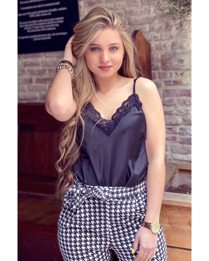Nora Lace Top - Black