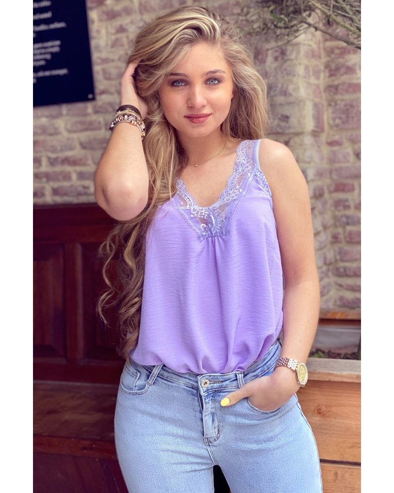Evy Lace Top - Lilac