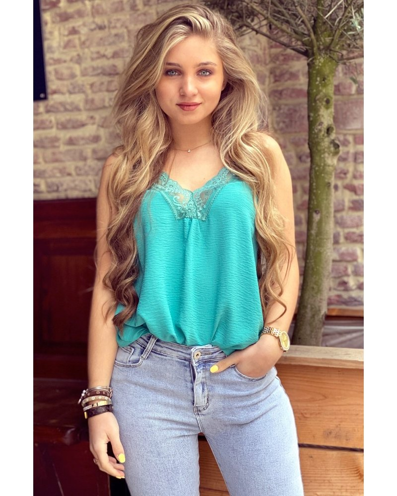 Evy Lace Top - Turquoise