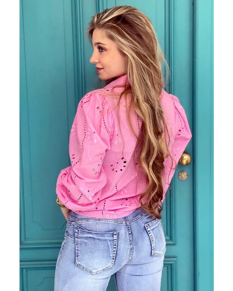 Mila Flower Blouse - Pink