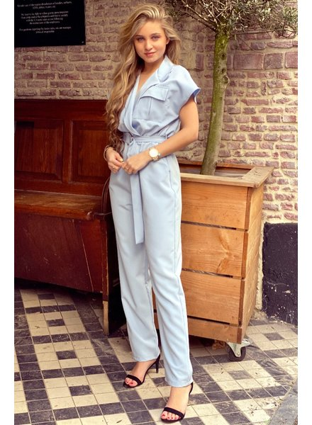 June Jumpsuit - Light Blue
