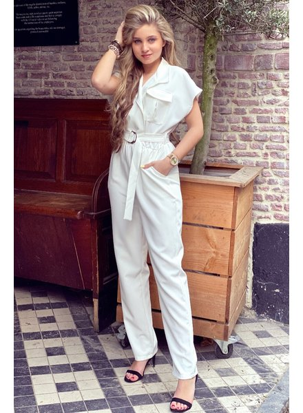 June Jumpsuit - White