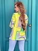 Pippa Pattern Blazer - Green / Yellow