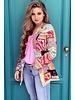 Leopard Pattern Blazer - Mint / Pink