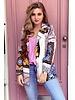 Pippa Pattern Blazer - Pink / Black