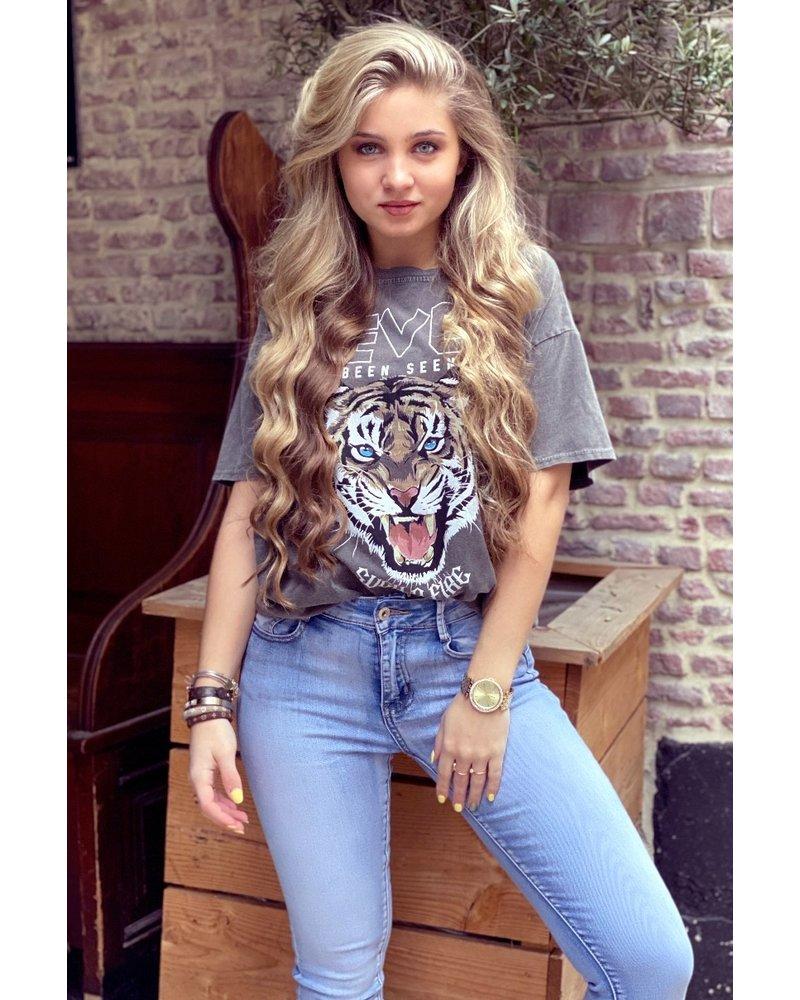 Ivy Tiger Shirt - Grey