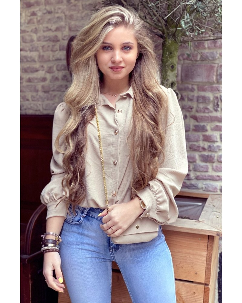 Ruby Blouse with Bag - Beige / Gold