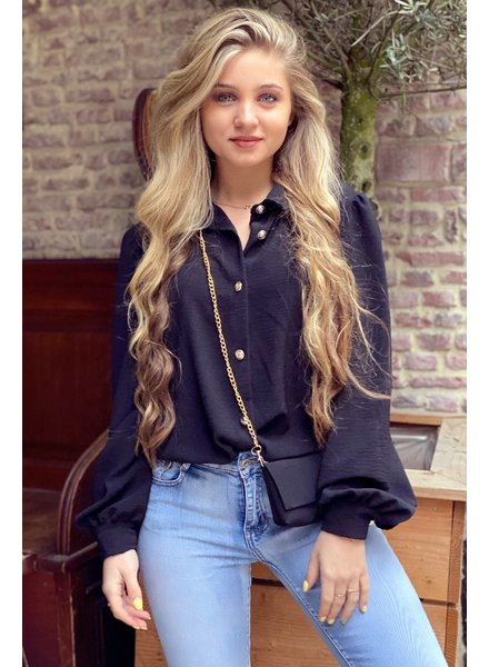 Ruby Blouse with Bag - Black / Gold