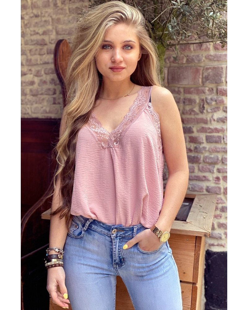 Evy Lace Top - Light Pink