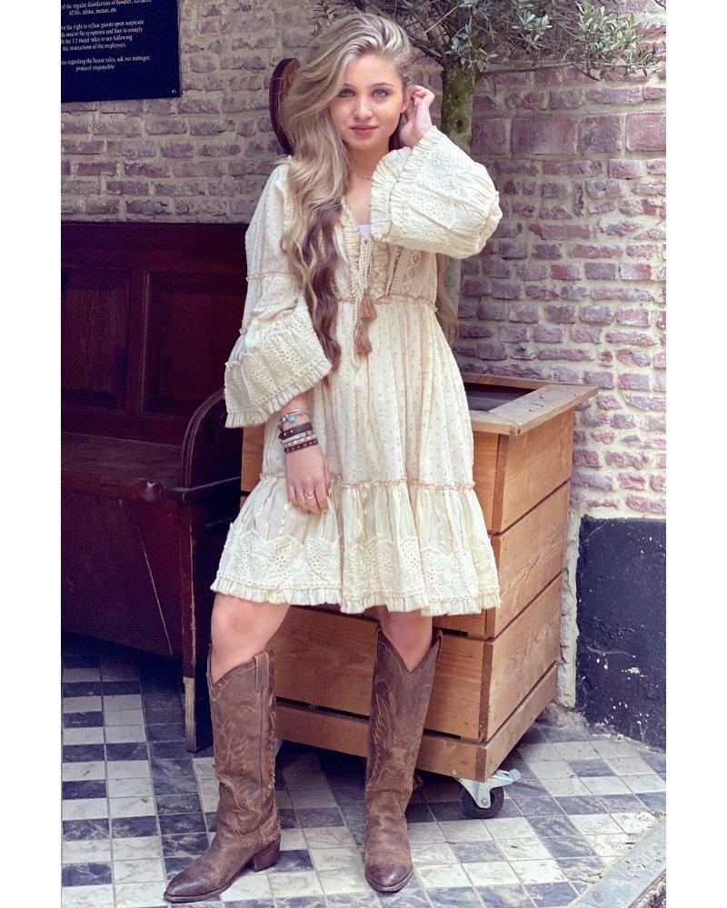 Layla Bohemian Dress - Beige