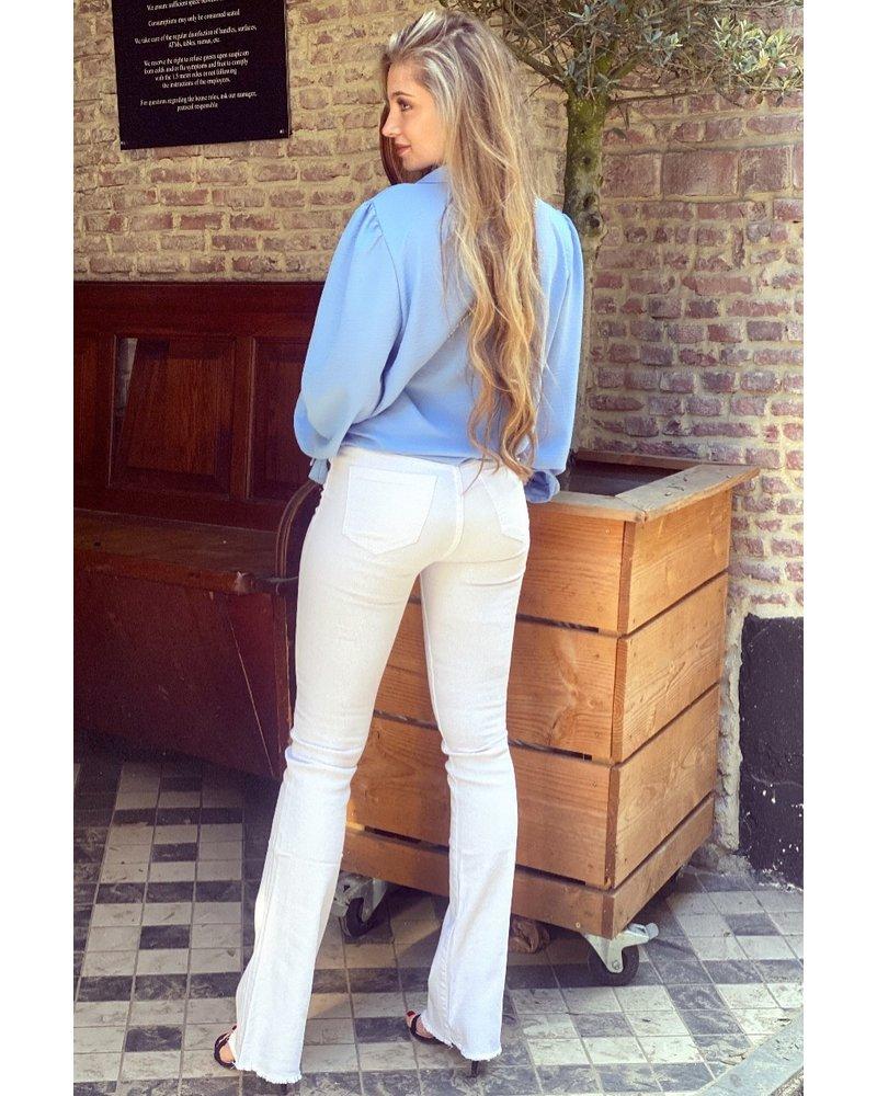 Kiki Flared Jeans - White
