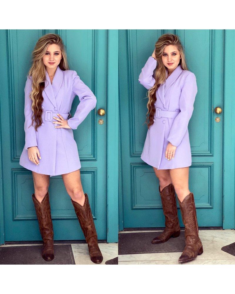 Josh Blazer Dress - Lilac