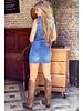 Lua Sleeveless Denim Dress - Blue