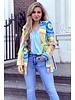 Puck Pattern Blazer - Blue Yellow