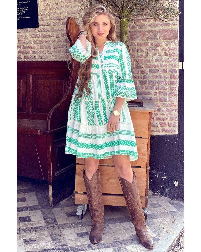 Cato Linnen Dress - Green