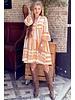 Cato Linnen Dress - Orange