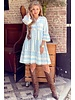 Cato Linnen Dress - Light Blue