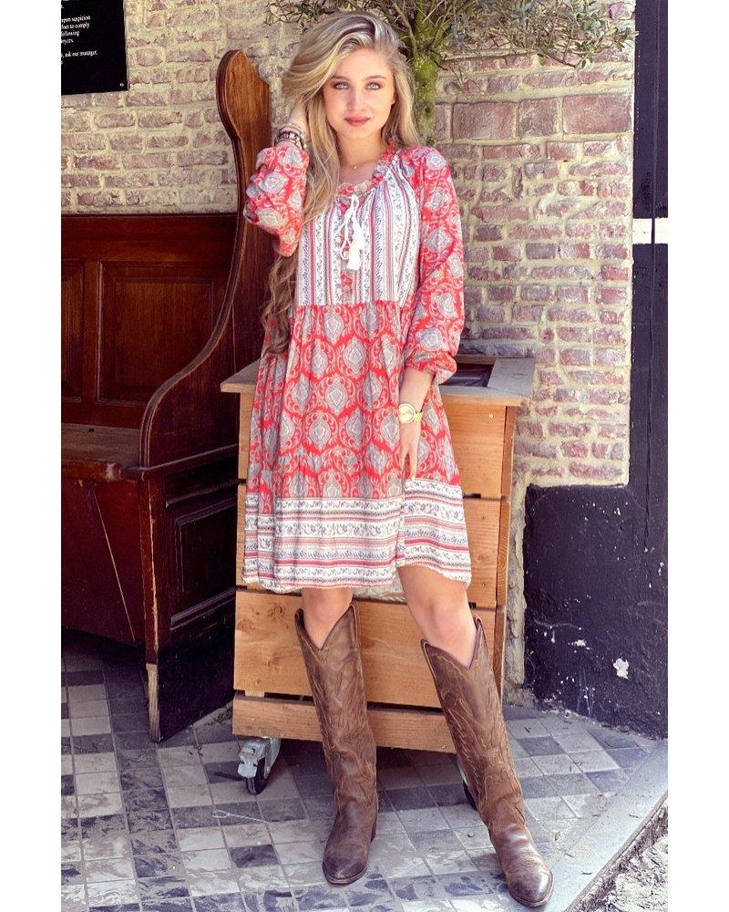 Bowi Bohemian Dress - Red