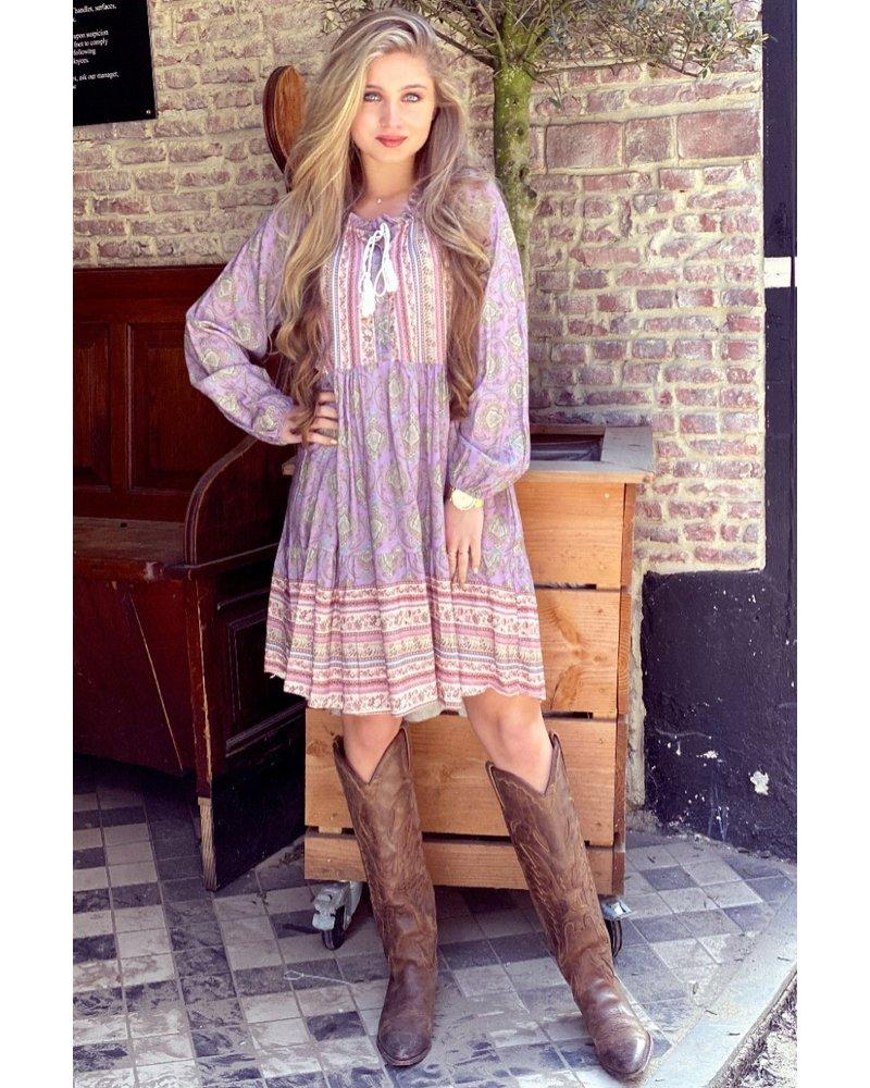 Bowi Bohemian Dress - Lilac